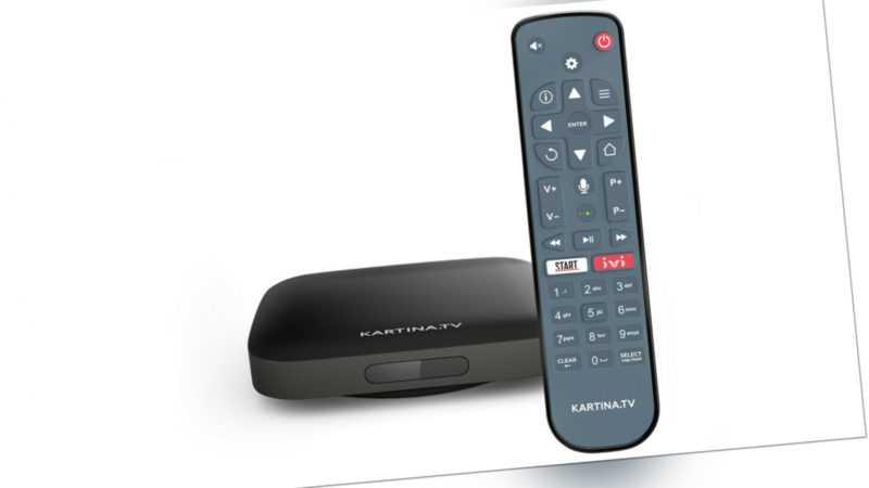 Kartina EVA WiFi 4K TV Box für Kartina.TV von DuneHD mit Bluetooth-Fernbedienung