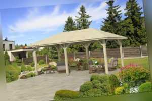Gartenpavillon Orleans 1 Pavillon 656x374 cm Überdachung Leimholz Laube Holz