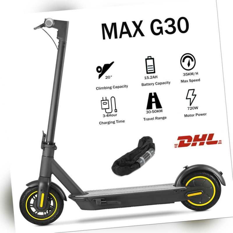 10 Zoll Elektroroller 700W E-Scooter Roller Klappbarer Cityroller 35km/h 15.2AH