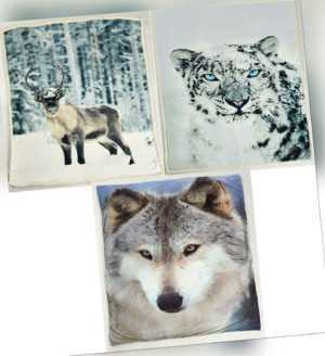 Sherpa Fleecedecke Wohnen Kuschel 150x200 cm Rentier Wolf
