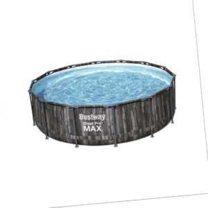 Bestway 5614Z Steel Pro Max Frame Pool 427x107cm rund Gartenpool Swimming Pool