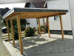 Carport 3x5 m Kiefer inkl. Dach und Anker ca. 310x510 cm DIREKT VOM HERSTELLER