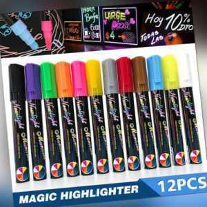 12x Set Flüssigkreide Kreidestift Kreide Marker Fenster Tafel Stift 6mm