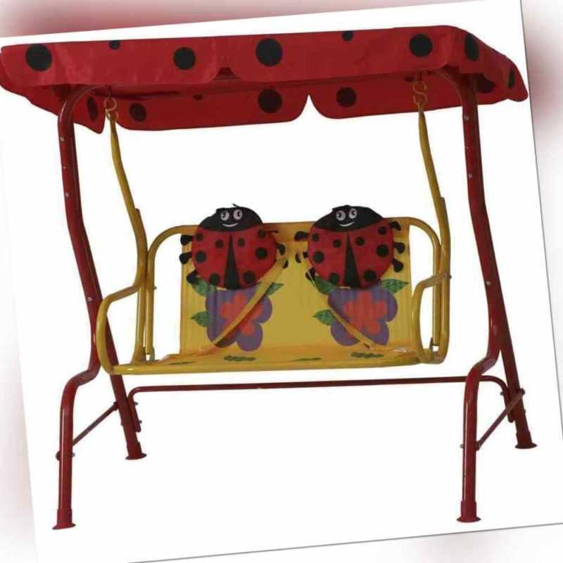 SIENA GARDEN Marie Kinderschaukel Stahlgestell Polyester Marienkäfer 672612