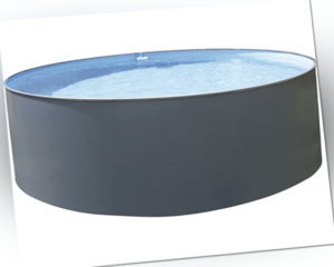 Stahlwandbecken-Set Ø457cm H120cm Leiter Skimmer Filteranlage Schwimmbecken Pool