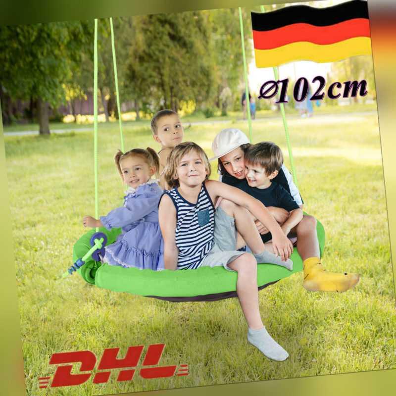 Ø102cm Nestschaukel für Kinder Schaukel Tellerschaukel Garten bis zu150kg unisex