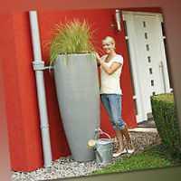 Regentonne 300 Liter Garantia 2in1 Wasserbehälter mit integrierter Pflanzschale