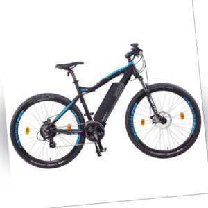 "NCM Moscow 48V 27,5"" E-MTB Mountainbike E-Bike 13Ah 624Wh Akku, schwarz blau"