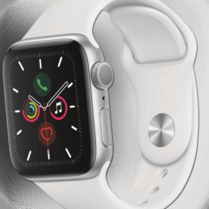 Apple Watch Series 5 GPS Smartwatch 40mm Alu White Sport Band