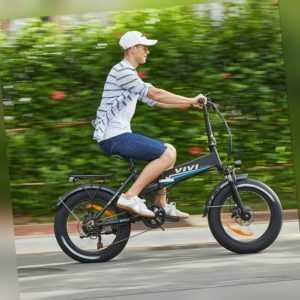 20''Elektrofahrrad E-Bike Mountainbike 500W Motor Klapprad Fetter Reifen Pedelec