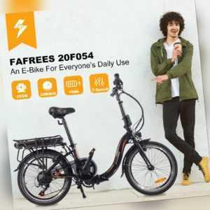 20 Zoll Elektrofahrrad Klapprad E-Bike Bike 250W Shimano Pedelec 25km/h Citybike