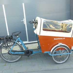 Bakfiets elektro E Lastenrad Fahrrad 7 Gang Shimano Akku CargoTrike 2019