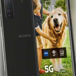 "Sony Xperia 5 II DualSim schwarz 128GB 5G Android Smartphone 6.1"" Full HD 12MP"