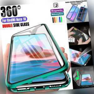 360 Magnet Hülle Xiaomi Redmi Note 10 4G/10S/Pro Handy Schutz Tasche Panzer Case
