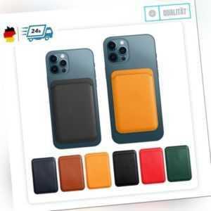 Für iPhone 12 13 Pro Max Mini Karten Leder Wallet Case Apple MagSafe kompatibel
