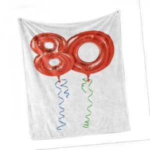 80. Geburtstag Weich Flanell Fleece Decke Granny Party-Ballone