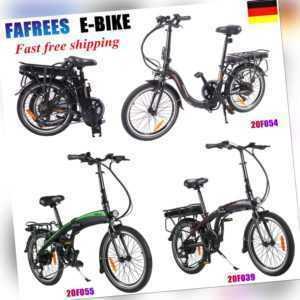 "20 Zoll Elektrofahrrad 250W eBike Mountainbike Faltrad 20"" E-Bike 10.0AH Pedelec"