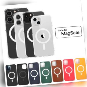 Hülle Apple iPhone mit MagSafe X XS XR 8 11 12 13 SE 2 Pro Max Mini Plus Case