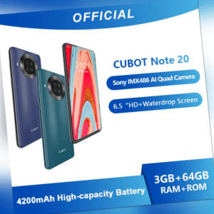 """6.5"""" CUBOT NOTE 20 Smartphone 4G LTE 2-SIM Handy 4200mAh NFC Face ID Android 10"""