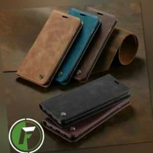 Hülle Samsung Galaxy Leder Magnet Handy Tasche Schutz Flip Case Etui Wallet