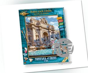 Schipper 609130819 Malen nach Zahlen, Fontana die Trevi in Rom - Bilder malen f