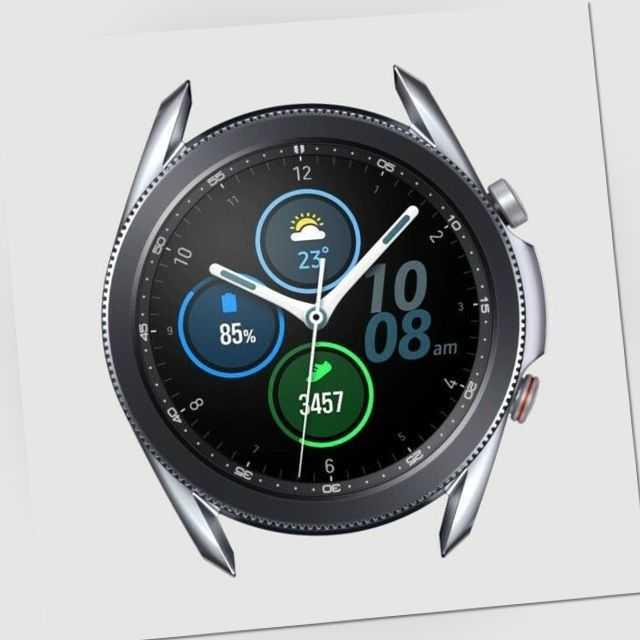 Samsung Galaxy Watch 3 LTE 45mm SM-R845 Smartwatch Silber + Ridge Sport Band