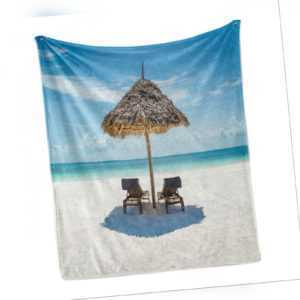 Strand Weich Flanell Fleece Decke Sansibar Eastern Scenery