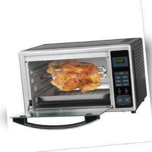 GOURMETmaxx Infrarotofen Digitaldisplay Silber 28L Volumen Hähnchen Braten Pizza