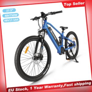 "Accolmile 27.5"" MTB Electric Bike Full Suspension BAFANG 750W Motor 840Wh AKKU"
