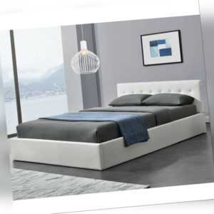 Polsterbett Doppelbett Kunstlederbett Bettgestell Lattenrost Bettkasten Juskys®