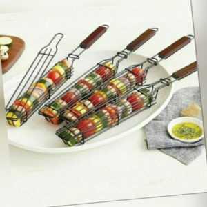 BBQ Grillkorb Edelstahl Grill Grillrost Werkzeuge BBQ Tray Mesh