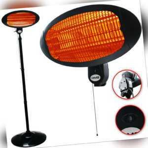 DMS® 2in1 Infrarot Heizstrahler Standheizer Terrassenheizung Strahler 2000 W AE1