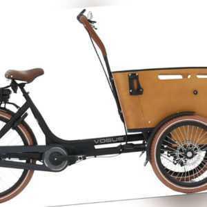 Vogue Carry 3 Lastenfahrrad Elektro-Ladefahrrad 26 Zoll mattschwarz / Braun 2021