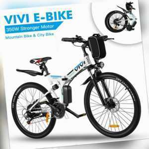 E-Bike Mountainbike,26'' Elektrofahrrad Faltrad Fahrrad 250W E-Pedelec,Unisex DE