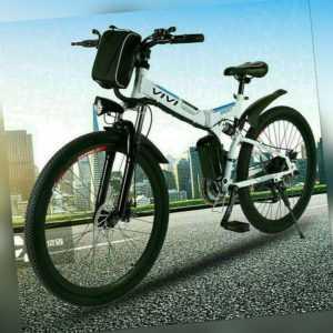 26 Zoll Elektrofahrrad Mountainbike Citybike Klapprad 250W E-Bike Für Erwachsene