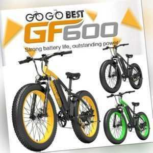 E Mountainbike 1000W Elektrofahrrad 26 Zoll E-bike 48V Fat Bike 13AH 40 km/h MTB