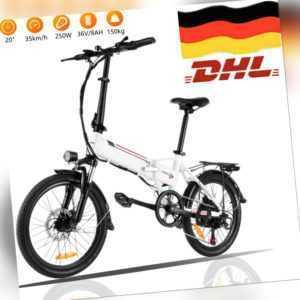 """20/26"""" Elektrofahrrad E-Bike Klapprad E city bike E Mountain bike Pedelec 250W@/"""