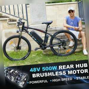 "350/500W Elektrofahrrad Mountainbike E-bike 26/27,5"" E-Citybike Pedelec 21-Gänge"