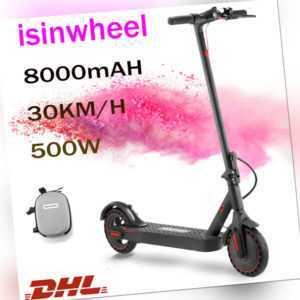 E-Scooter mit 30 km/h, 500 Watt, 8000mAh , Elektro Cityroller, E-Tretroller, DHL