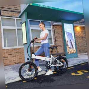 Elektrofahrrad 20 Zoll E-bike Klapprad E City bike 7-Gange E Mountain bike ebike