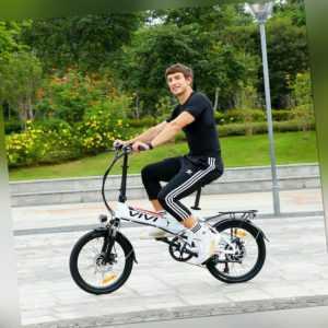 """20""""Elektrofahrrad 350W E-bike 26""""E City bike Klapprad E Mountain bike Pedelec DE"""