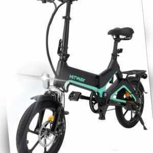 "HITWAY Elektrofahrrad 16"" Klapprad 250W Klapprad LED-Vorderlicht faltbar E-Bike"