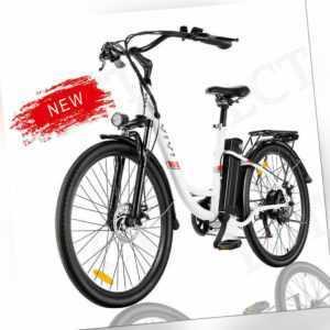 26''E-BIKE Elektrofahrrad E-Mountainbike Retro-Pedelec 250W Citybike,7Gang BIKE@