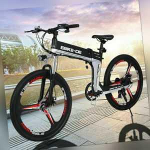 Elektrofahrrad E-Bike e Mountain Bike 26Zoll Klapprad ebike E city bike pedelec 